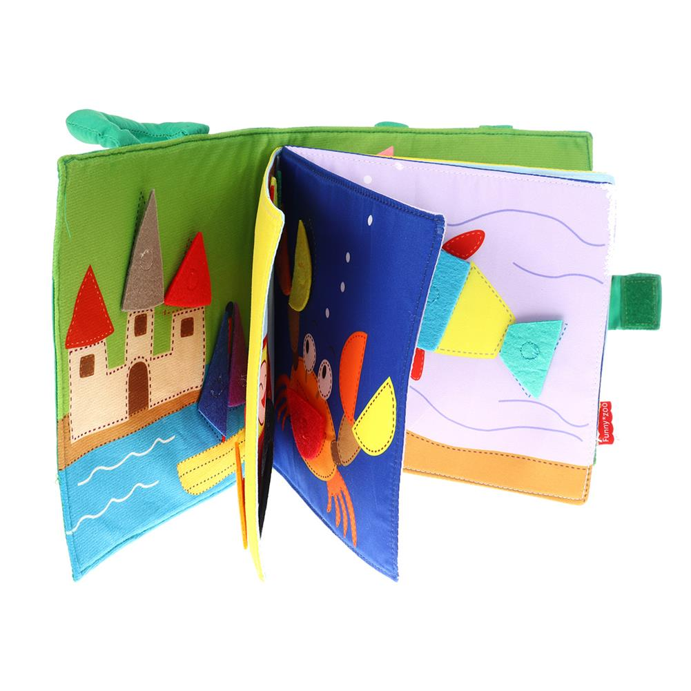 other-learning-office-supplies Funnyzoo Card Books Tangram Puzzle Shape Matching Cloth Book Montessori Early Childhood Education for infant Babies HOB1791757 1 1