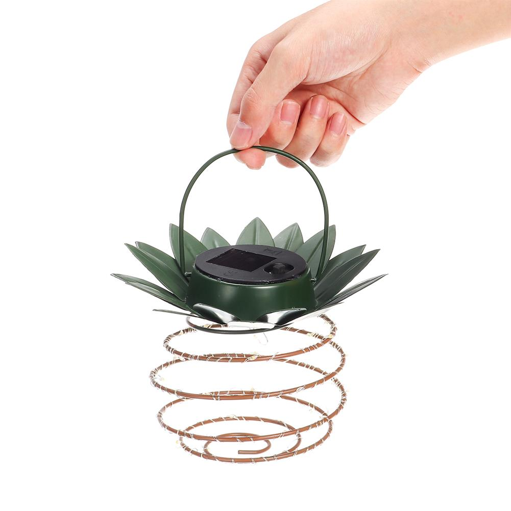 other-learning-office-supplies Solar Power Light Outdoor Waterproof Garden Foldable Pineapple Solar Lights Path Lights Hanging Fairy Lights Solar String Christmas Decor HOB1791863 1 1
