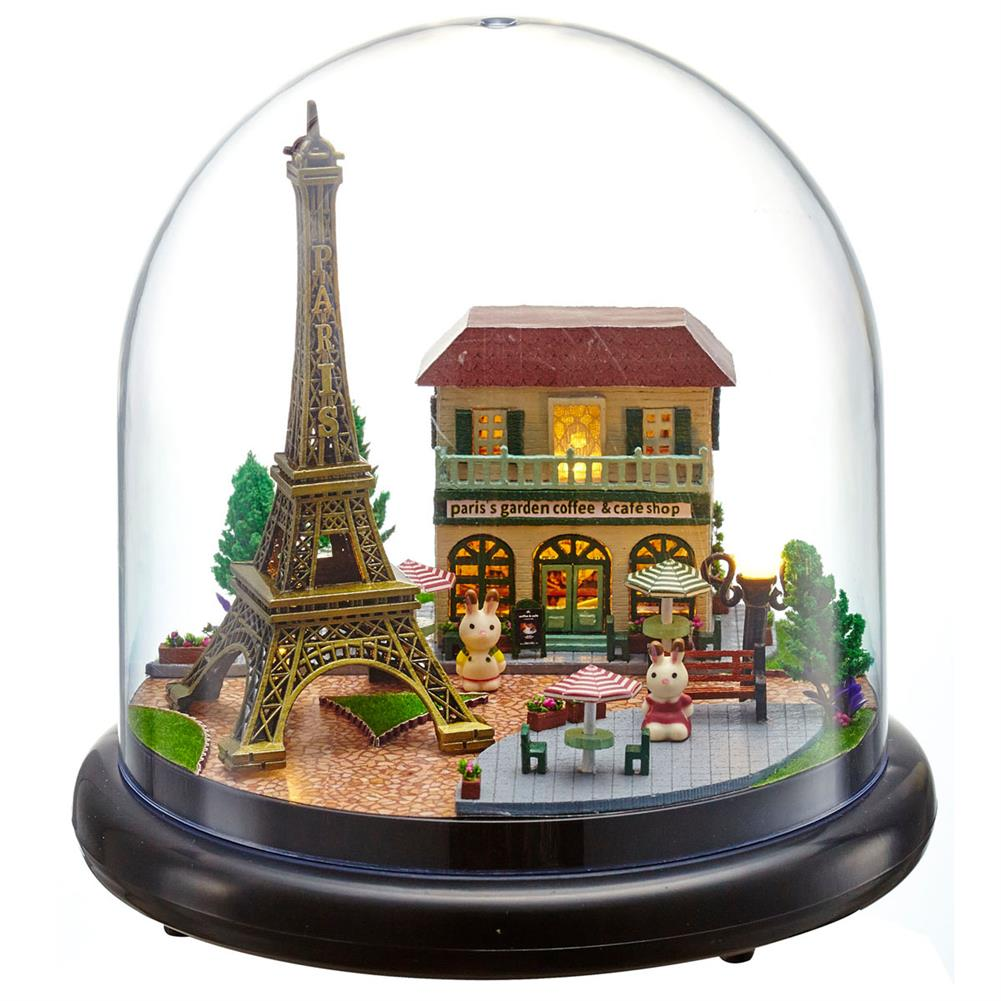 other-learning-office-supplies Crystal Ball Dollhouse Set Miniature Building House DIY Crafts Assemble Gifts DIY Puzzle Toy for Home Decoration HOB1791944 1