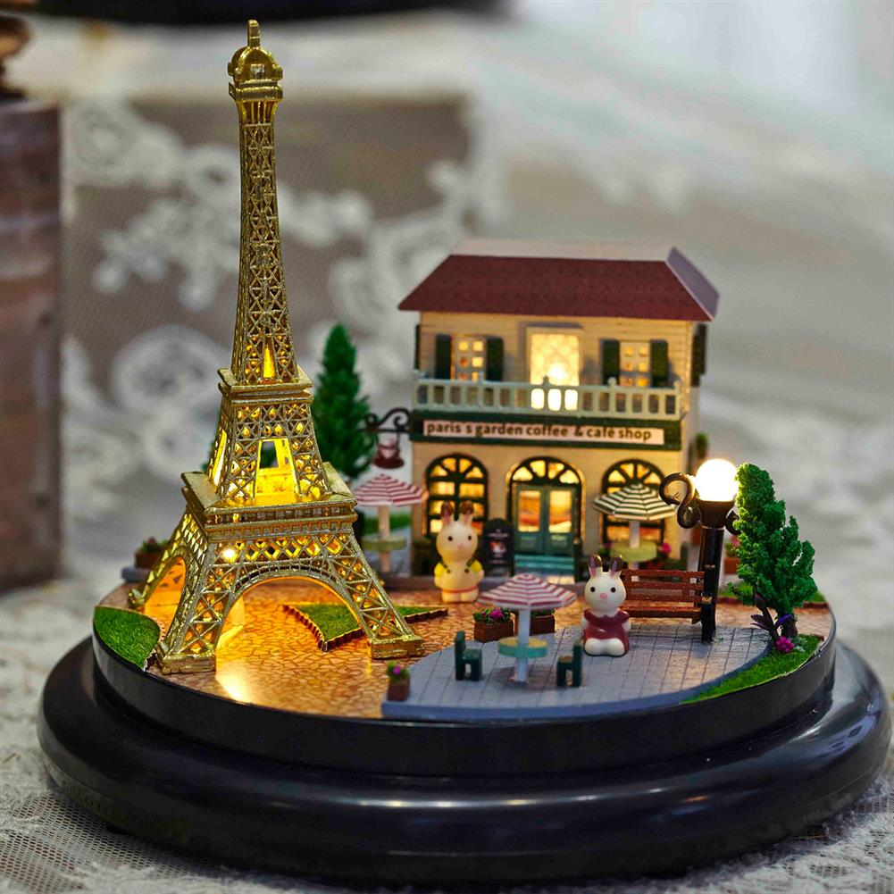 other-learning-office-supplies Crystal Ball Dollhouse Set Miniature Building House DIY Crafts Assemble Gifts DIY Puzzle Toy for Home Decoration HOB1791944 1 1