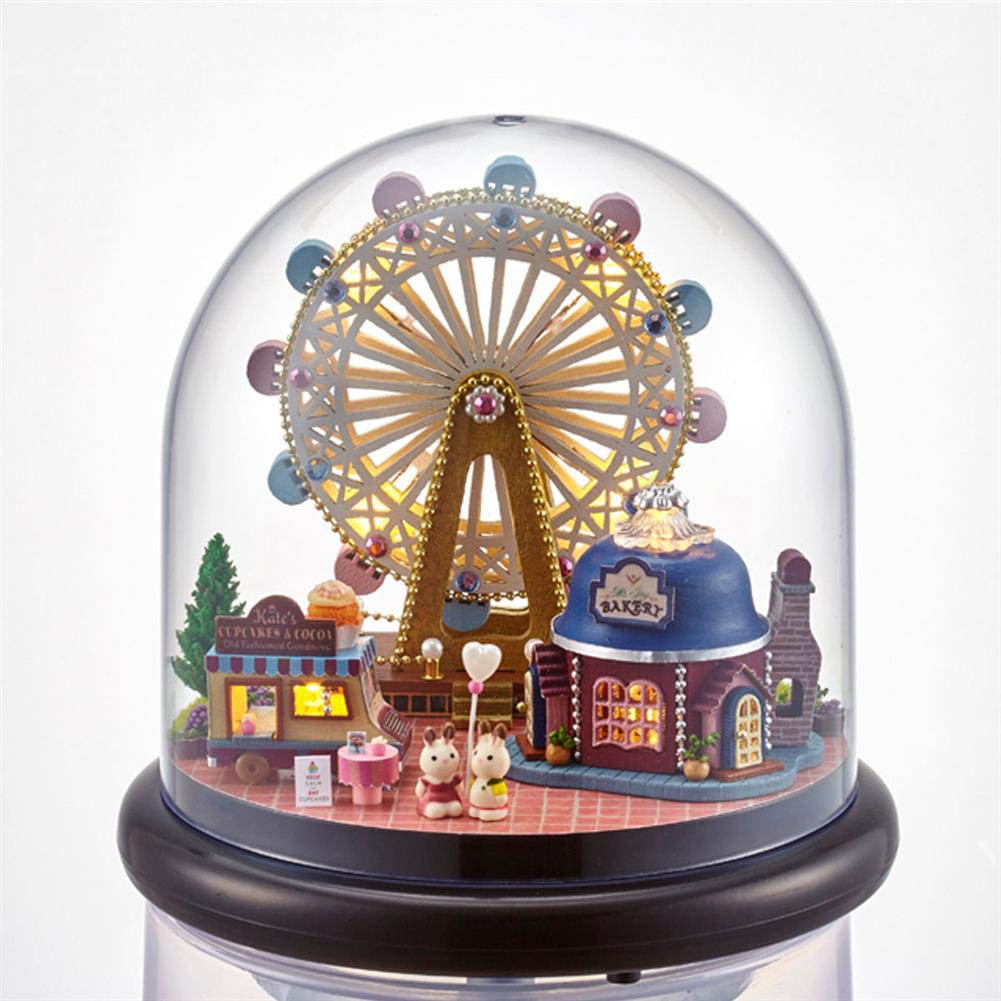 other-learning-office-supplies Crystal Ball Dollhouse Set Miniature Building House DIY Crafts Assemble Gifts DIY Puzzle Toy for Home Decoration HOB1791944 2 1