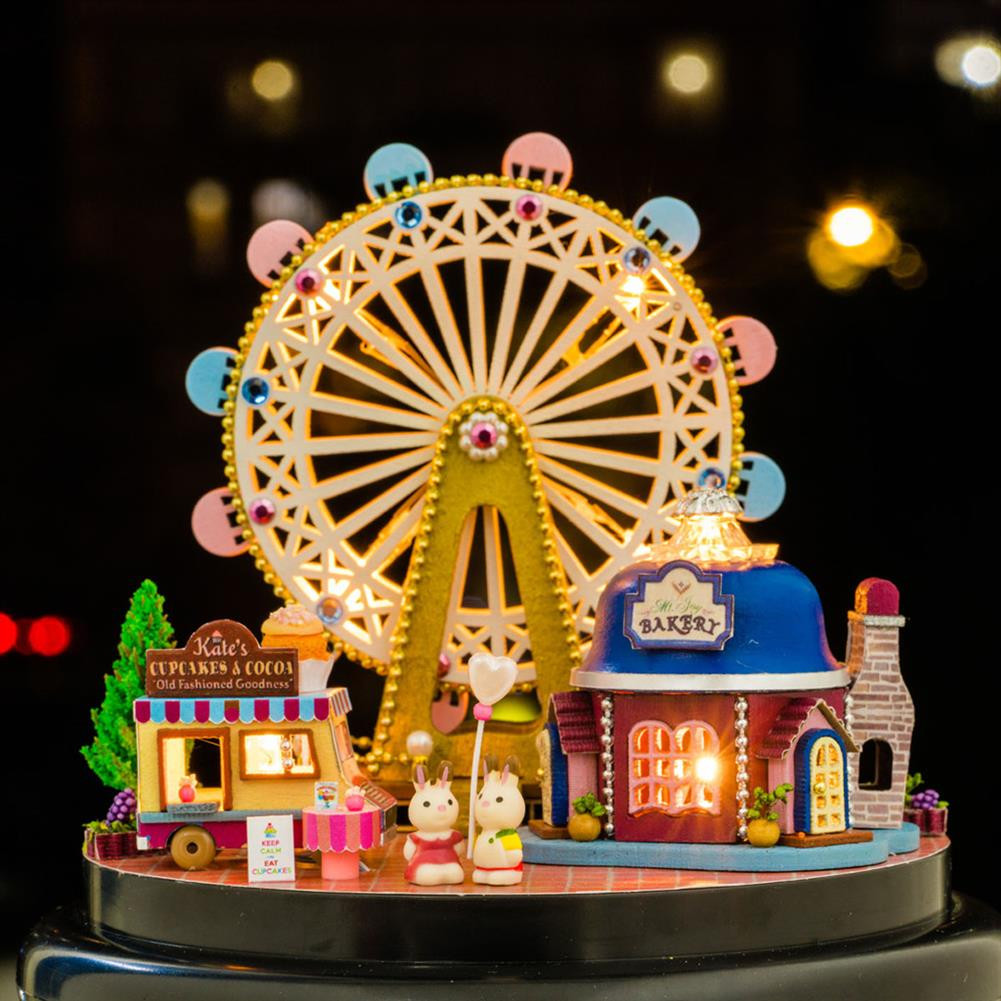 other-learning-office-supplies Crystal Ball Dollhouse Set Miniature Building House DIY Crafts Assemble Gifts DIY Puzzle Toy for Home Decoration HOB1791944 3 1