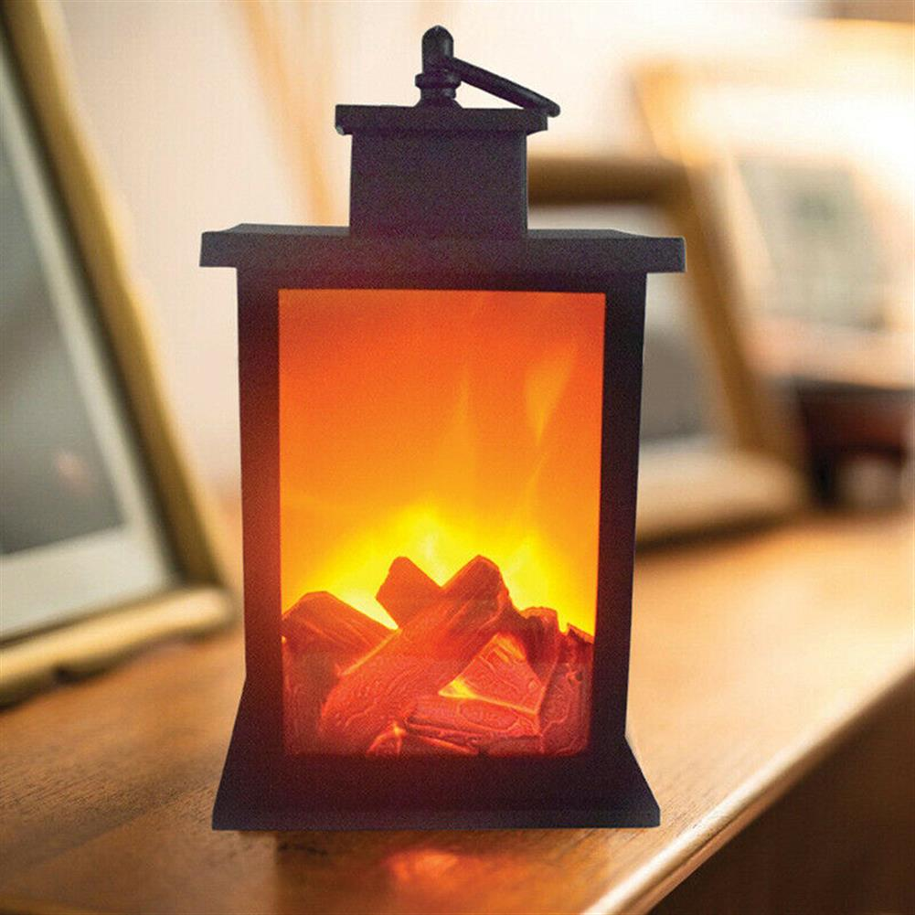 other-learning-office-supplies LED Fireplace Lantern Electric Log Flamless Fire Effect Vintage Lamp Christmas Home Garden Party Decoration HOB1792028 1 1