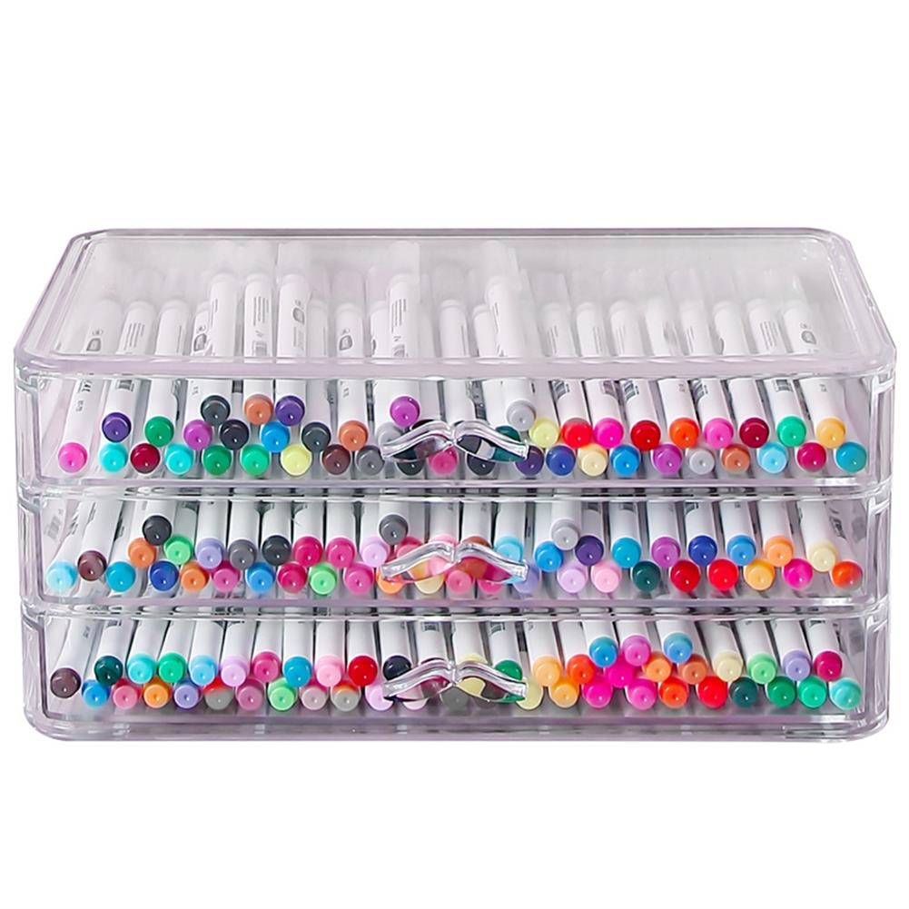 desktop-off-surface-shelves Multilayer Pencil Storage Box Creative Stationery Holder Drawer Jewelry Cosmetics Rack School office Desktop Organizer HOB1792314 1 1