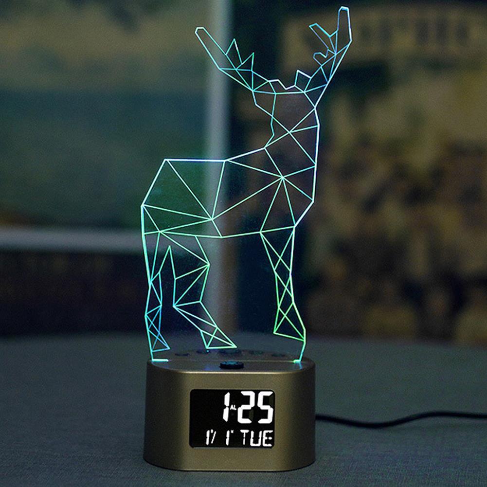 desktop-off-surface-shelves 3D LED Night Light Colorful Dimming Lamp USB Electronic Alarm Clock Night Lamp Decoration Creative Gift for Kids HOB1792416 3 1