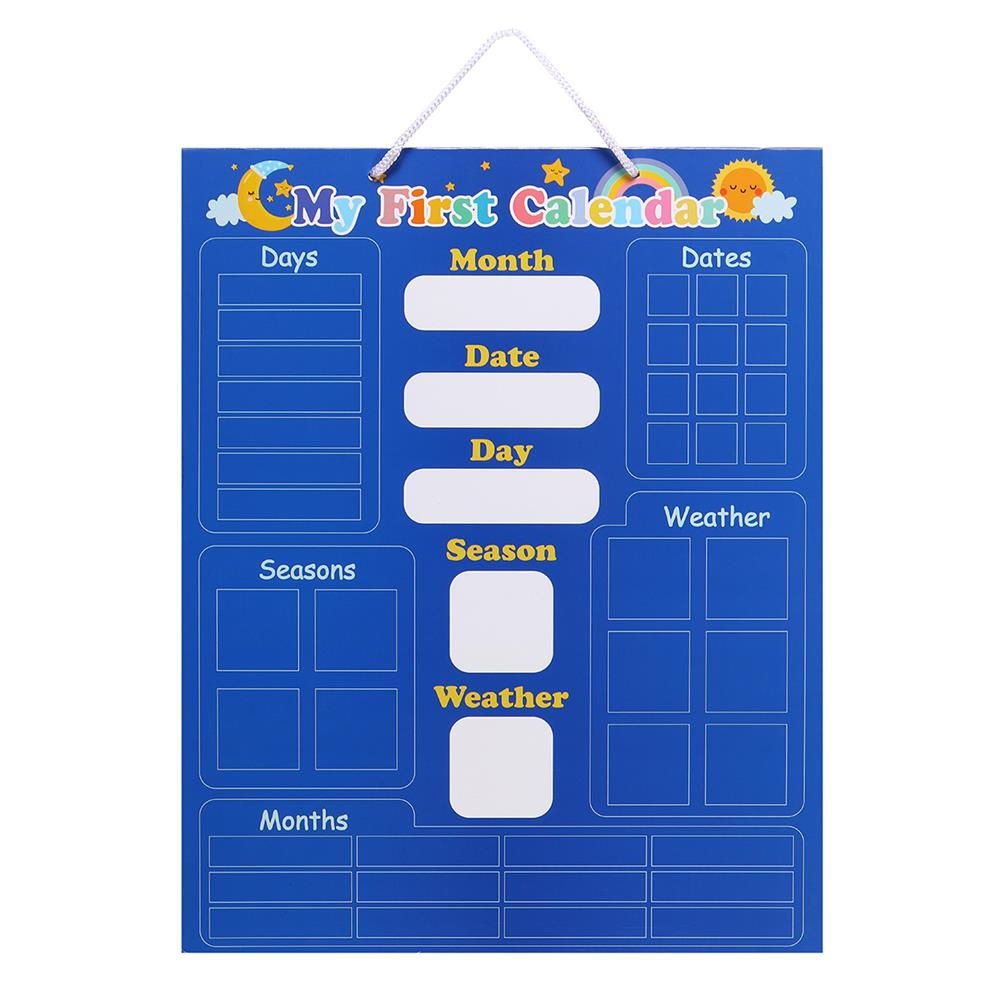 other-learning-office-supplies English Magnetic Weather Calendar Colors Awareness Toys Calendar Magic Sticker Early Education Puzzle Toy for Children HOB1792521 1 1
