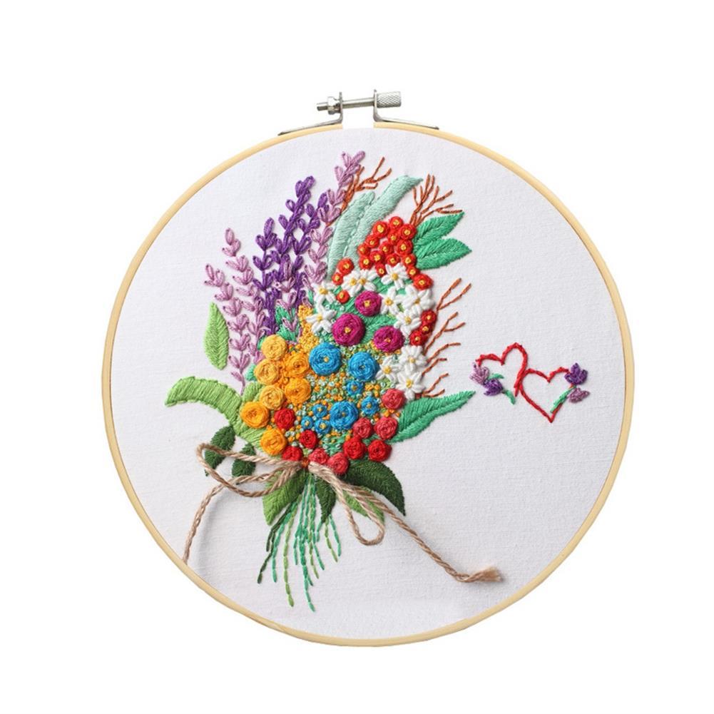 art-kit DIY Cross Stitch Set Pattern Embroidery Starting Kit Craft Threads Tools Adult DIY Handmade Art Craft for Home Decoration HOB1792664 1