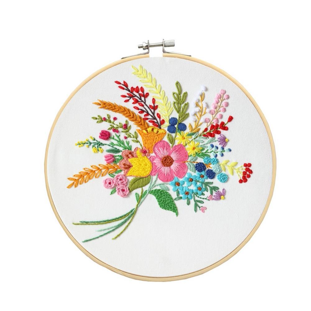 art-kit DIY Cross Stitch Set Pattern Embroidery Starting Kit Craft Threads Tools Adult DIY Handmade Art Craft for Home Decoration HOB1792664 2 1