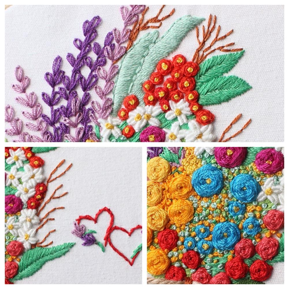 art-kit DIY Cross Stitch Set Pattern Embroidery Starting Kit Craft Threads Tools Adult DIY Handmade Art Craft for Home Decoration HOB1792664 3 1