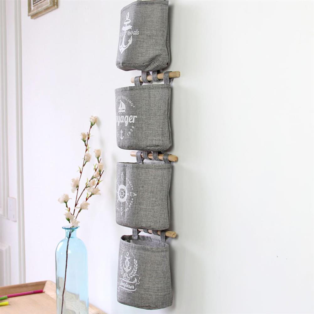 other-learning-office-supplies 4pcs/set Hanging Storage Bags Grey Sundries Wall Storage Box Household Living Room office Sack Supplies HOB1793355 1 1