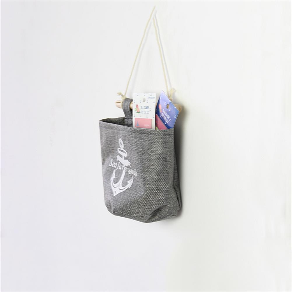 other-learning-office-supplies 4pcs/set Hanging Storage Bags Grey Sundries Wall Storage Box Household Living Room office Sack Supplies HOB1793355 2 1