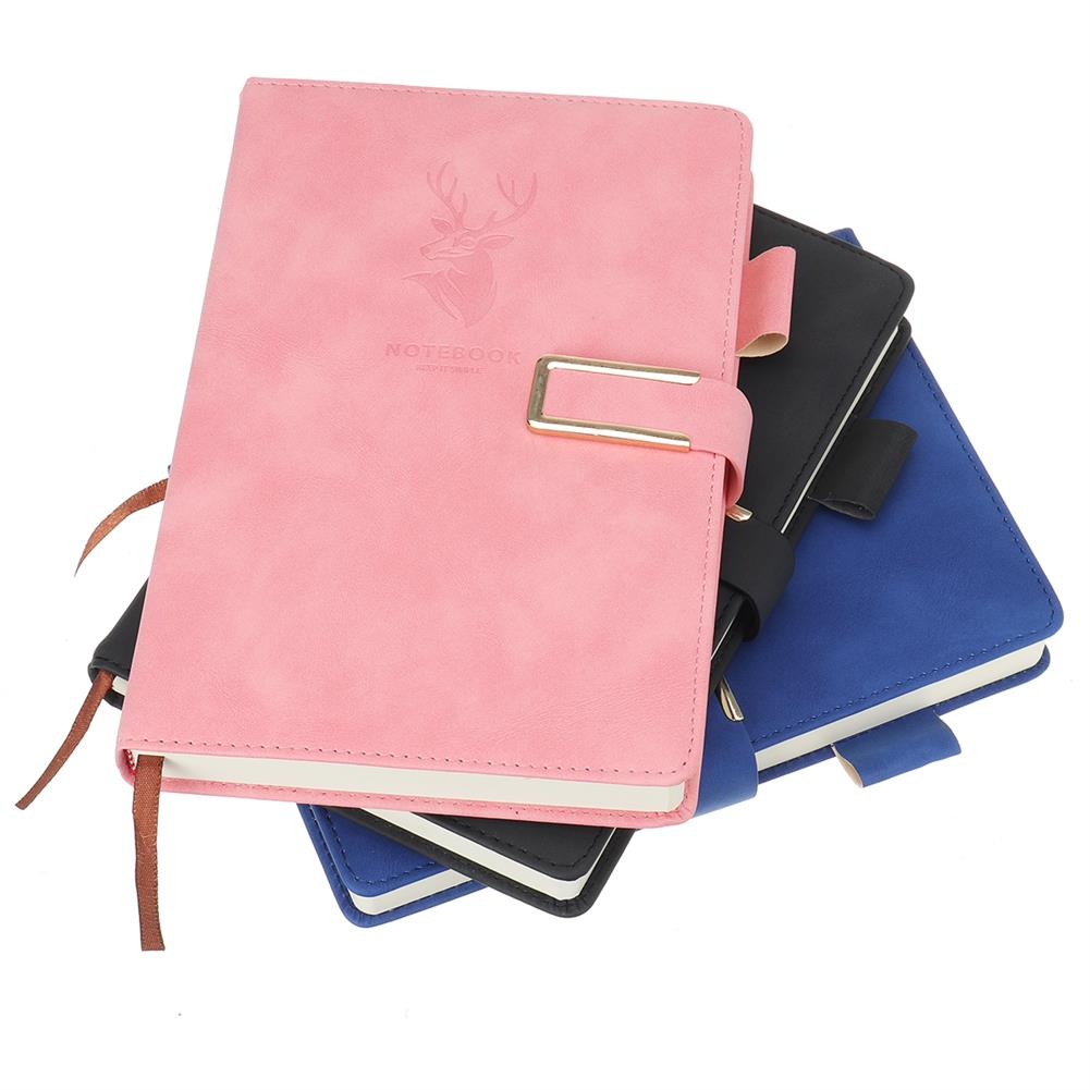 paper-notebooks A5 Journal Notebook Faux Leather Magnetic Buckle Book with Lined 416 Pages Diary Notebook for School office HOB1793407 1