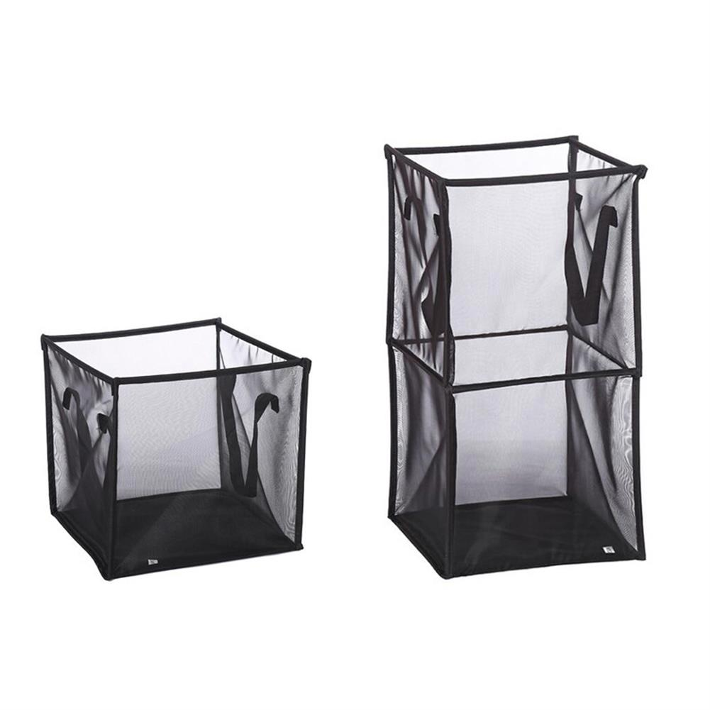 other-learning-office-supplies Black/Gray Breathable Mesh Basket Foldable Single/ Double Layers Dirty Clothes Hamper Basket for Clothes Home Accessories Storage HOB1793584 1