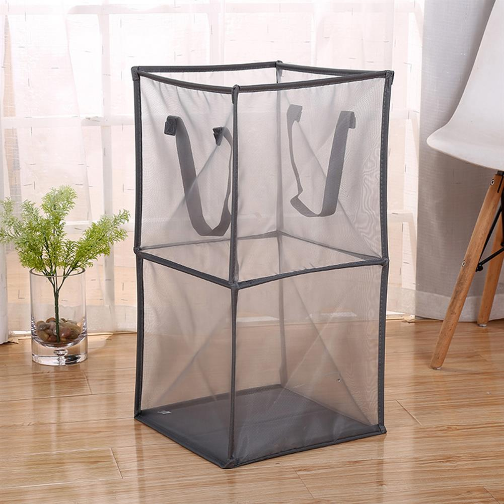 other-learning-office-supplies Black/Gray Breathable Mesh Basket Foldable Single/ Double Layers Dirty Clothes Hamper Basket for Clothes Home Accessories Storage HOB1793584 1 1