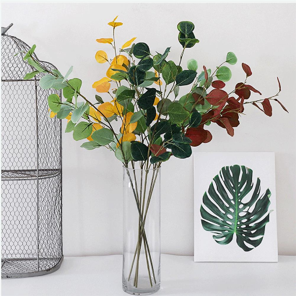 other-learning-office-supplies Handmade Plant Leaves Artificial Bouquet Eucalyptus Leaf imitation Plant DIY for Wedding Party Home Decoration HOB1793670 3 1
