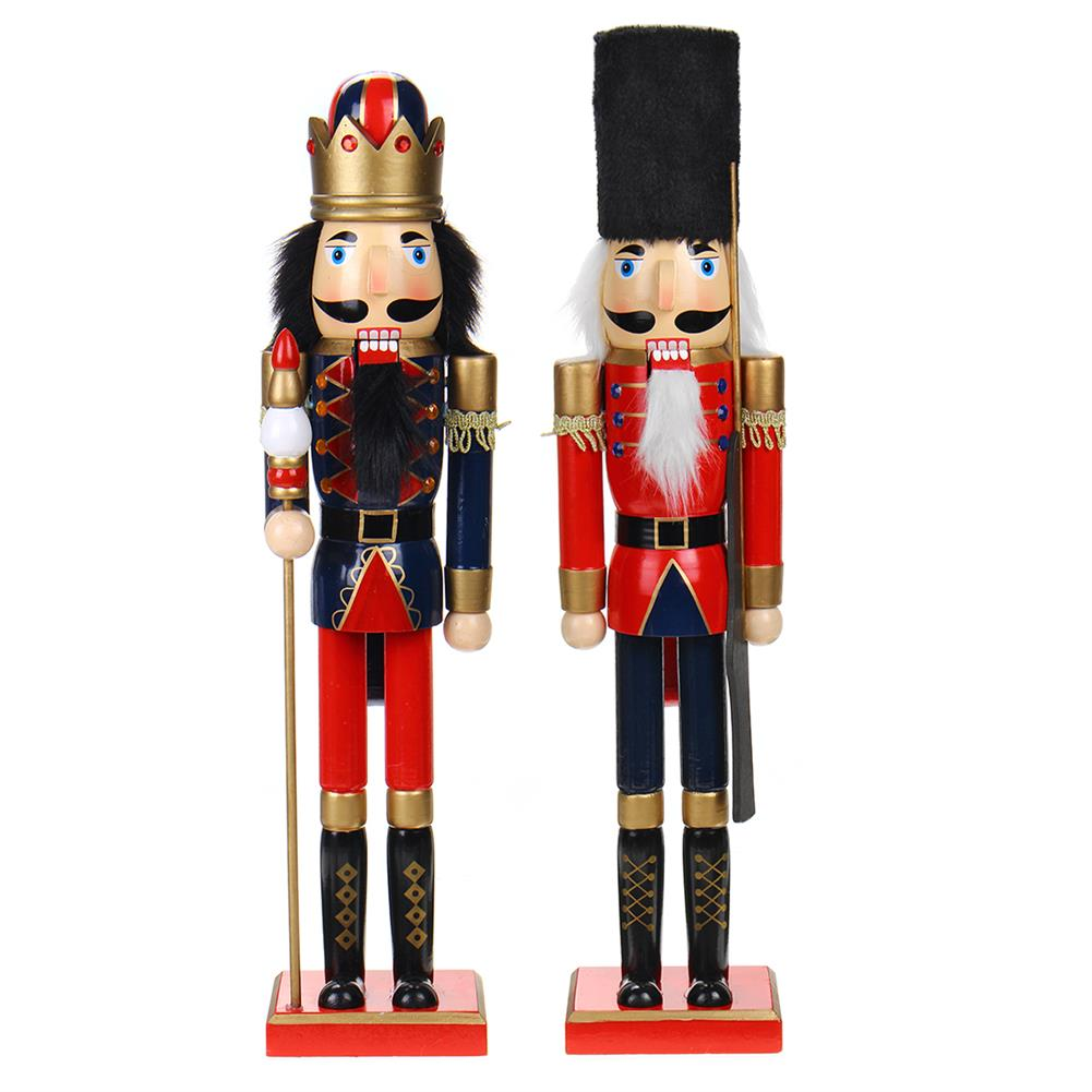 other-learning-office-supplies Nutcracker Soldier 60cm Wooden Nutcracker Doll Soldier Vintage Handcraft for Christmas Decoration Christmas Gifts HOB1793672 1 1