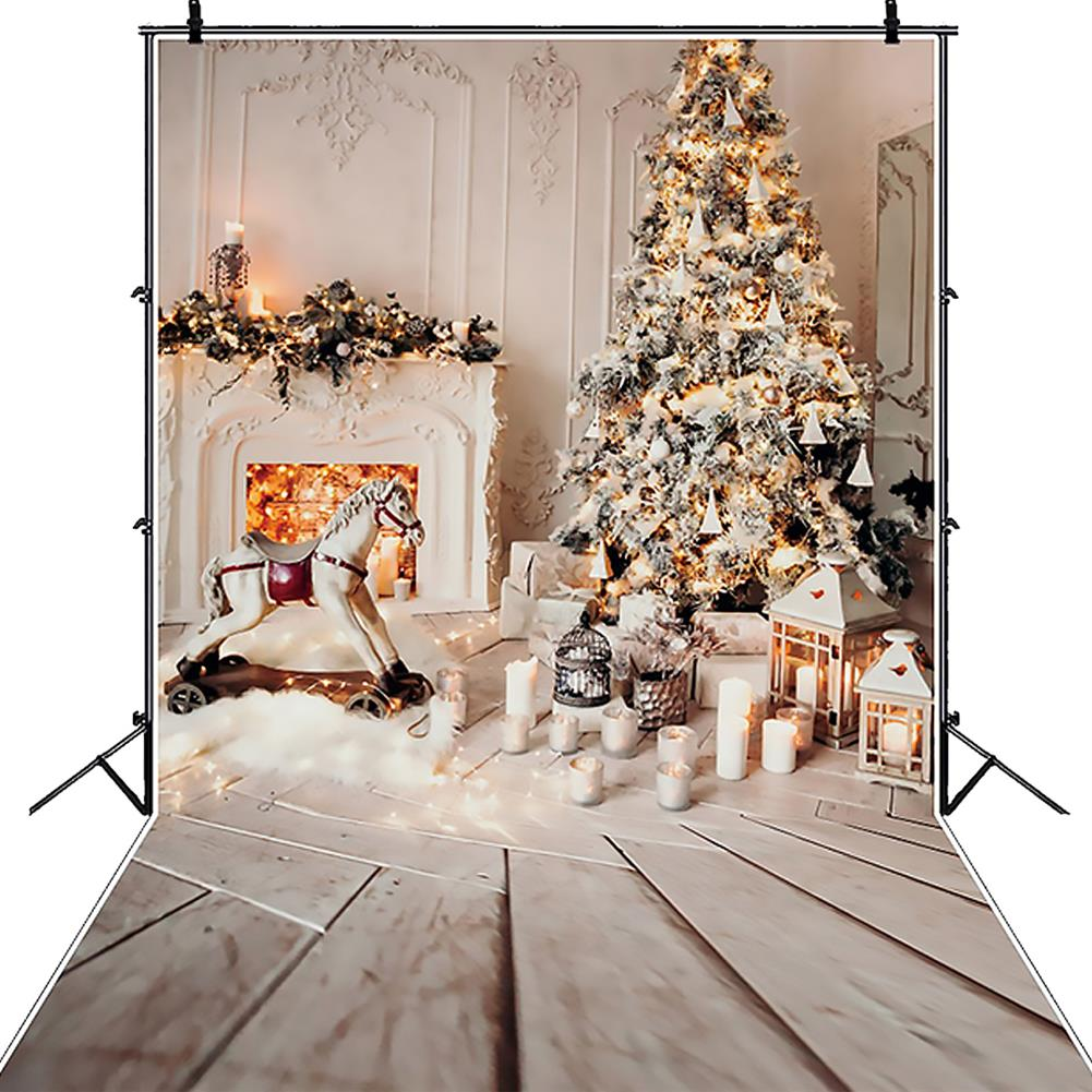 other-learning-office-supplies Gray Chic Wall Photo Background Fireplace Winter Christmas Tree Candle Gift Kid Toy Floor Party Photo Backdrop HOB1793685 1