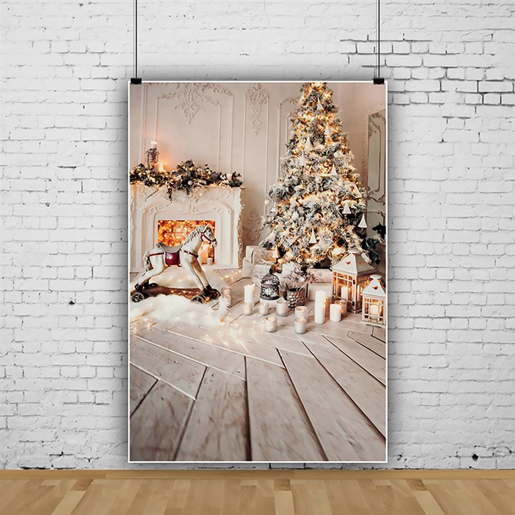 other-learning-office-supplies Gray Chic Wall Photo Background Fireplace Winter Christmas Tree Candle Gift Kid Toy Floor Party Photo Backdrop HOB1793685 2 1
