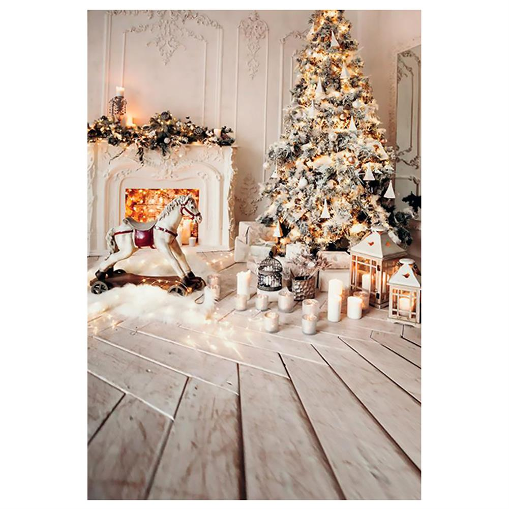 other-learning-office-supplies Gray Chic Wall Photo Background Fireplace Winter Christmas Tree Candle Gift Kid Toy Floor Party Photo Backdrop HOB1793685 3 1