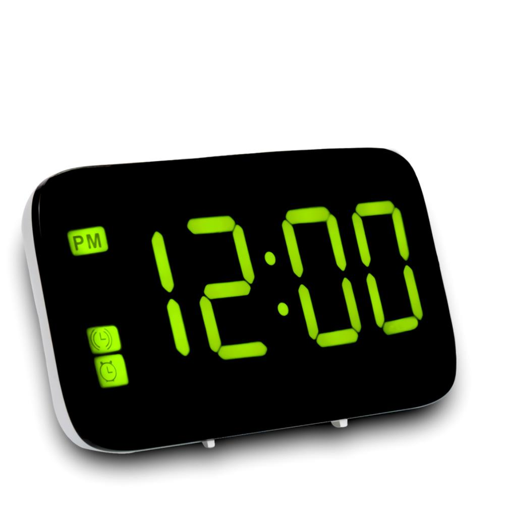desktop-off-surface-shelves LED Digital Display Alarm Clock Large Screen Silent Voice Control Table Desktop Electronic Snooze Clocks for Home office Use HOB1793813 1