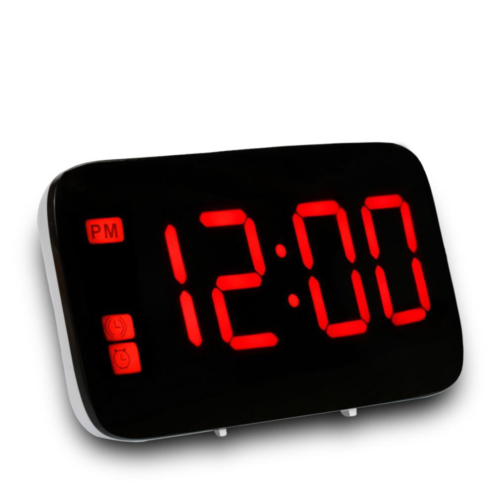 desktop-off-surface-shelves LED Digital Display Alarm Clock Large Screen Silent Voice Control Table Desktop Electronic Snooze Clocks for Home office Use HOB1793813 1 1