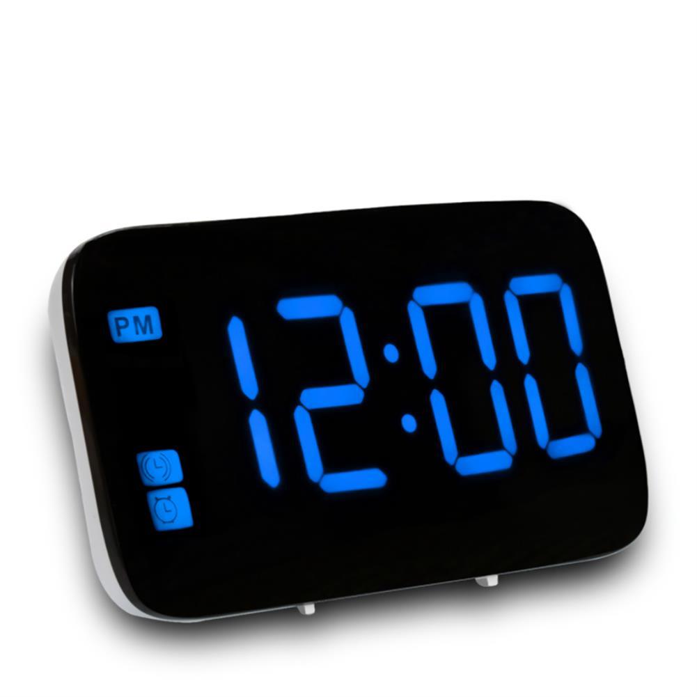 desktop-off-surface-shelves LED Digital Display Alarm Clock Large Screen Silent Voice Control Table Desktop Electronic Snooze Clocks for Home office Use HOB1793813 2 1