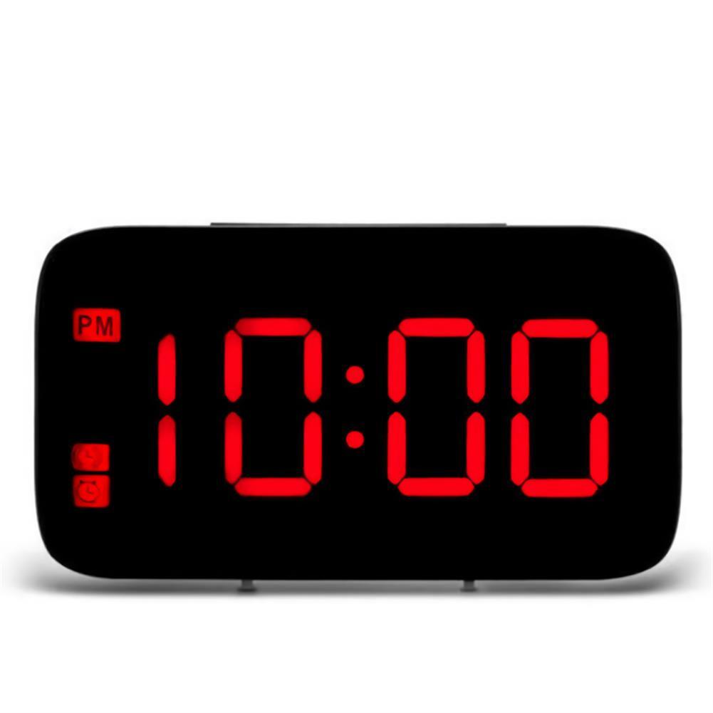 desktop-off-surface-shelves LED Digital Display Alarm Clock Large Screen Silent Voice Control Table Desktop Electronic Snooze Clocks for Home office Use HOB1793813 3 1