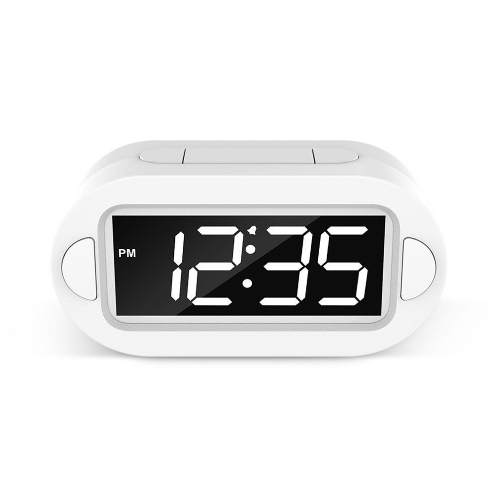 desktop-off-surface-shelves LED Electronic Alarm Clock Large Screen Digital Display Table Desktop Electronic Snooze Clocks USB Charging for Home office Use HOB1793814 2 1