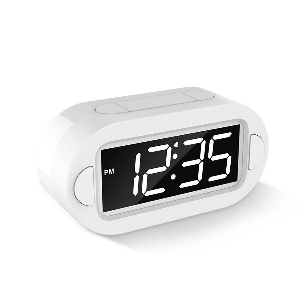 desktop-off-surface-shelves LED Electronic Alarm Clock Large Screen Digital Display Table Desktop Electronic Snooze Clocks USB Charging for Home office Use HOB1793814 3 1