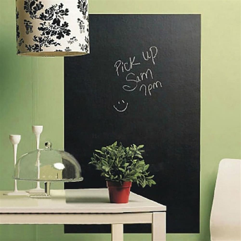 white-wipe-board 45x200cm Blackboard Wall Sticker Removable Chalkboard Kid Graffiti Writing Message Boards Stickers Teaching Tools Home office School Supplies HOB1793957 1