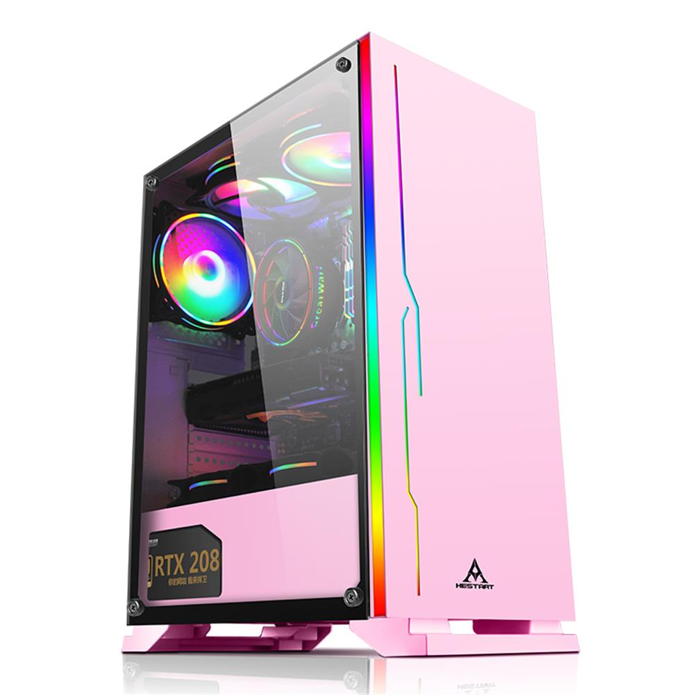 computer-cases-towers HESTART ATX Tower Gaming Case with Magnetic Design Dust FilterTransparent Acrylic Side Panel Adjustable I/O & Fully Ventilated Airflow HOB1794257 1