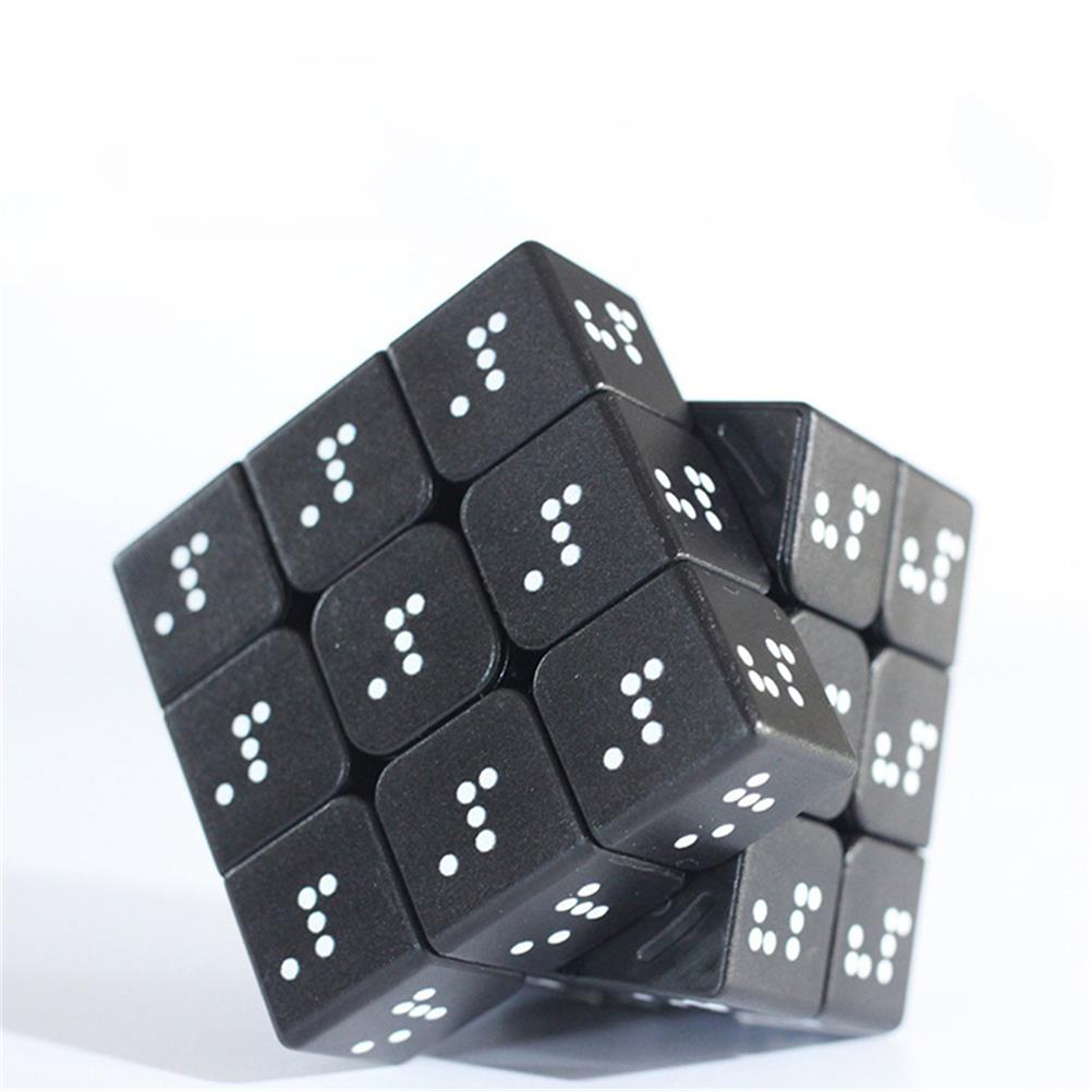 other-learning-office-supplies 3D Relief Braille Magic Cube 3x3x3 Fingerprint Learning Education Puzzle Magic Cube for Children Adult Creative Toy HOB1794752 2 1