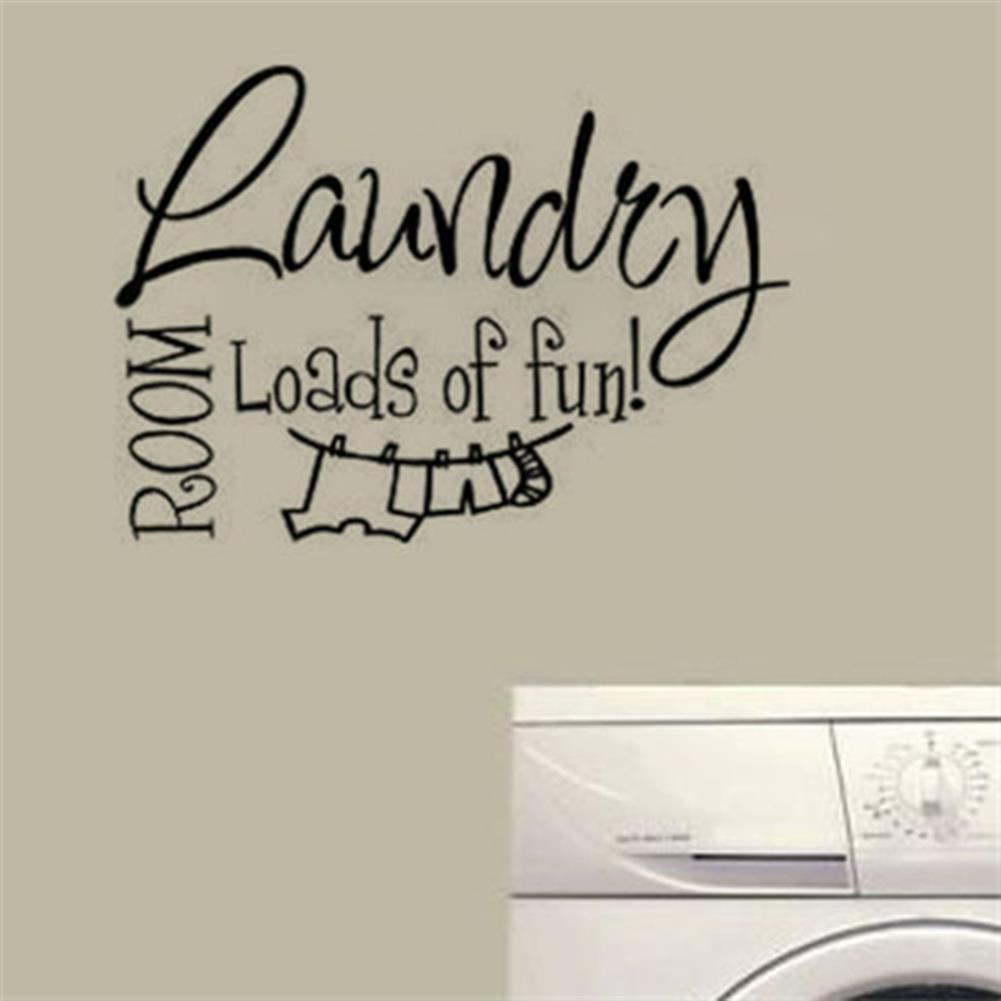 paper-notebooks Laundry Room Wall Sticker Home Decoration Waterproof Removeable Wallpaper Wall Decal HOB1794856 1 1
