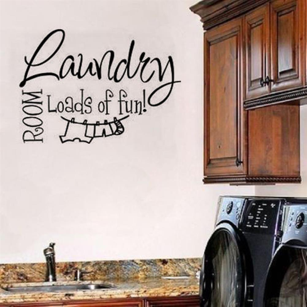 paper-notebooks Laundry Room Wall Sticker Home Decoration Waterproof Removeable Wallpaper Wall Decal HOB1794856 2 1