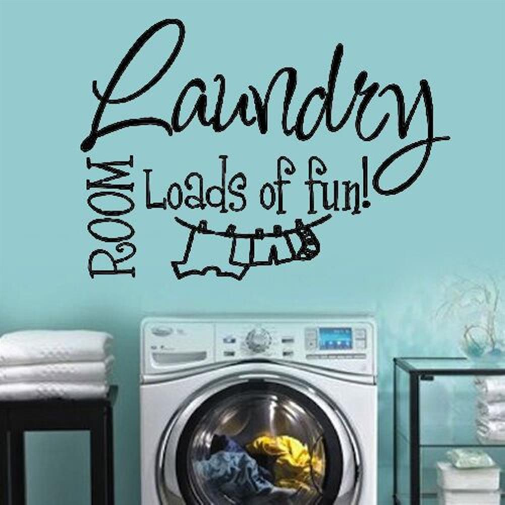 paper-notebooks Laundry Room Wall Sticker Home Decoration Waterproof Removeable Wallpaper Wall Decal HOB1794856 3 1