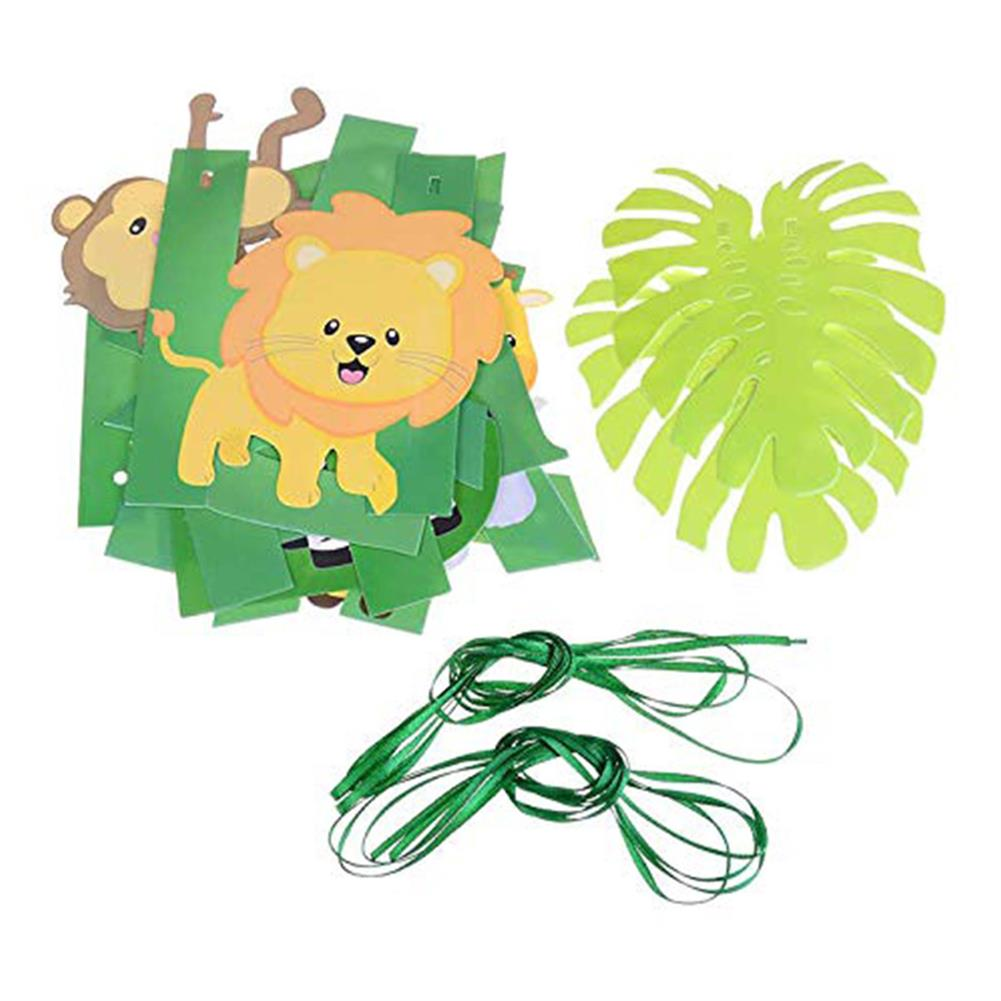 other-learning-office-supplies 97Pcs Jungle Party Birthday Balloons Decoration Set Banner Baby Shower Party Props Set for Home Garden Party Decoration HOB1794948 3 1