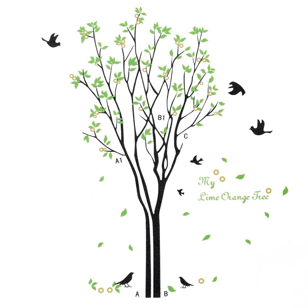 other-learning-office-supplies DIY Wall Sticker Bird Green Tree Wall Background Paper Waterproof Removeable Wallpaper Wall Decal Home office Decor HOB1794996 1