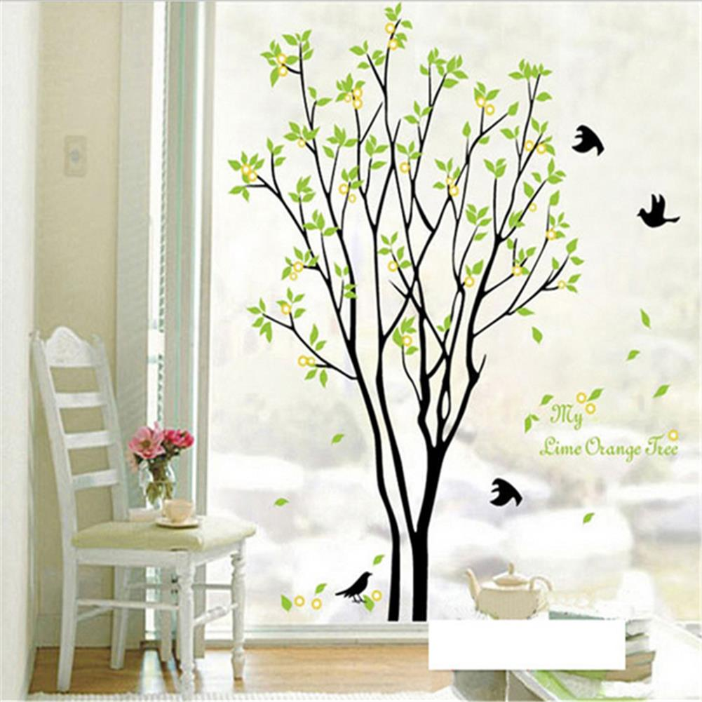 other-learning-office-supplies DIY Wall Sticker Bird Green Tree Wall Background Paper Waterproof Removeable Wallpaper Wall Decal Home office Decor HOB1794996 1 1