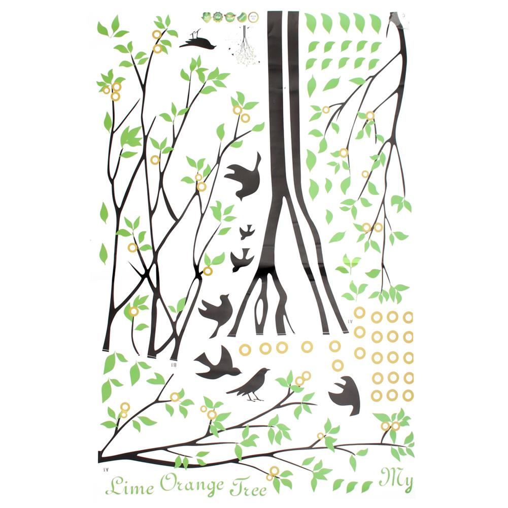other-learning-office-supplies DIY Wall Sticker Bird Green Tree Wall Background Paper Waterproof Removeable Wallpaper Wall Decal Home office Decor HOB1794996 3 1