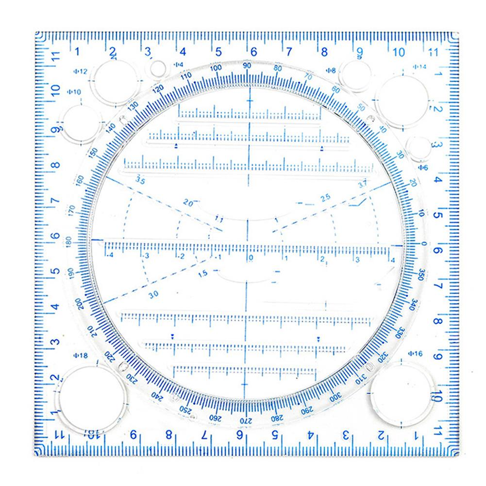 ruler Multifunctional Ruler Quick Drawing Geometric Function 3-dimensional Compass Ruler Drawing Ruler School Student Supplies HOB1795339 1 1