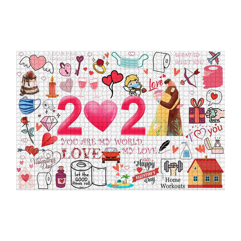 other-learning-office-supplies 1000pcs Valentine's Day Jigsaw Christmas Educational Puzzle Toy Wall Hanging interactive Games Bedroom Living Room Ornament HOB1795392 1 1