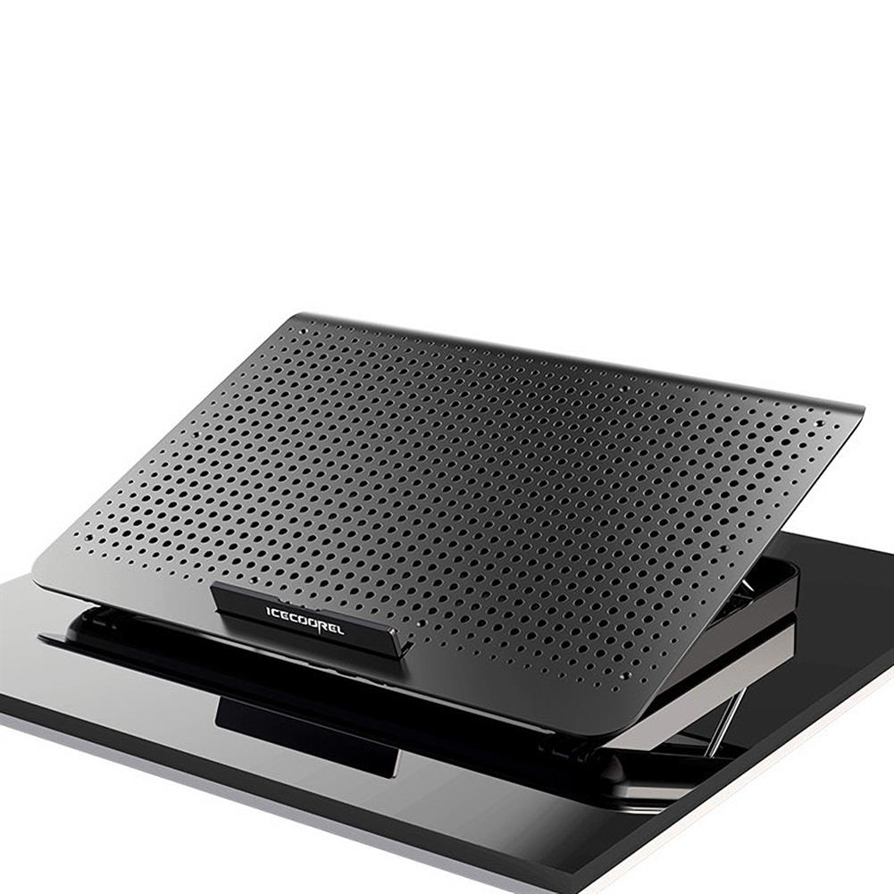 cooling-pads-stands ICE COOREL Laptop Cooler Cooling Pad Lifting Radiator USB 1 Fans Computer Laptop Stand for Under 17 Laptop A18 HOB1795613 1 1