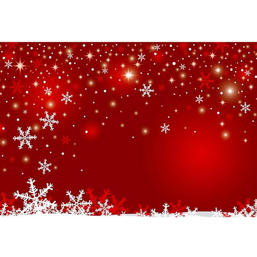 other-learning-office-supplies Photography Backgroud Cloth Vinyl Red Snowflake Shiny Star Pattern Backdrop Christmas New Year Party Decor HOB1795646 1