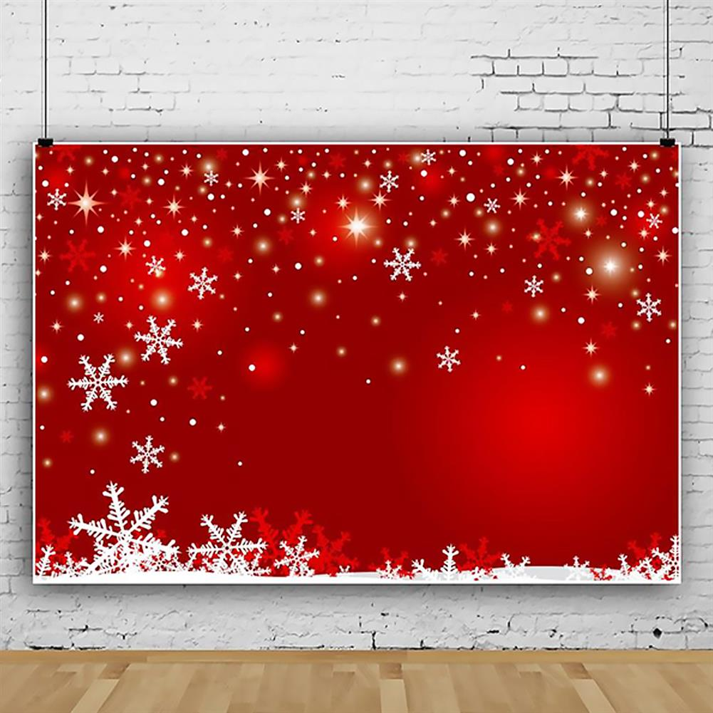other-learning-office-supplies Photography Backgroud Cloth Vinyl Red Snowflake Shiny Star Pattern Backdrop Christmas New Year Party Decor HOB1795646 1 1