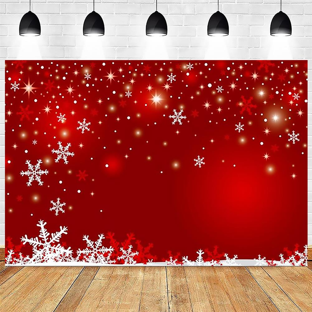 other-learning-office-supplies Photography Backgroud Cloth Vinyl Red Snowflake Shiny Star Pattern Backdrop Christmas New Year Party Decor HOB1795646 2 1