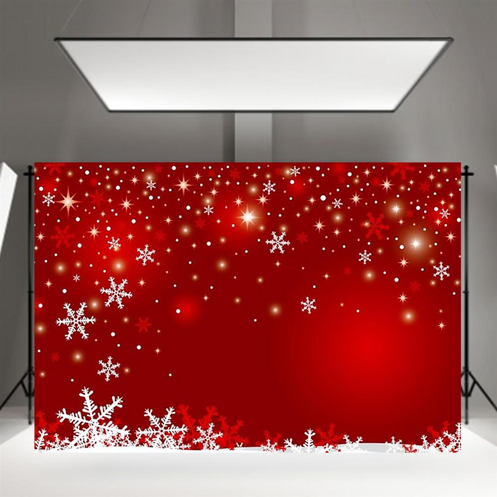 other-learning-office-supplies Photography Backgroud Cloth Vinyl Red Snowflake Shiny Star Pattern Backdrop Christmas New Year Party Decor HOB1795646 3 1