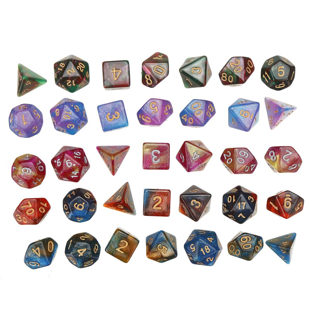 other-learning-office-supplies 35Pcs Acrylic Polyhedral Dice 7 Colors Various Shape Dice with Bags for DND RPG MTG Role Playing Board Game HOB1795685 2 1