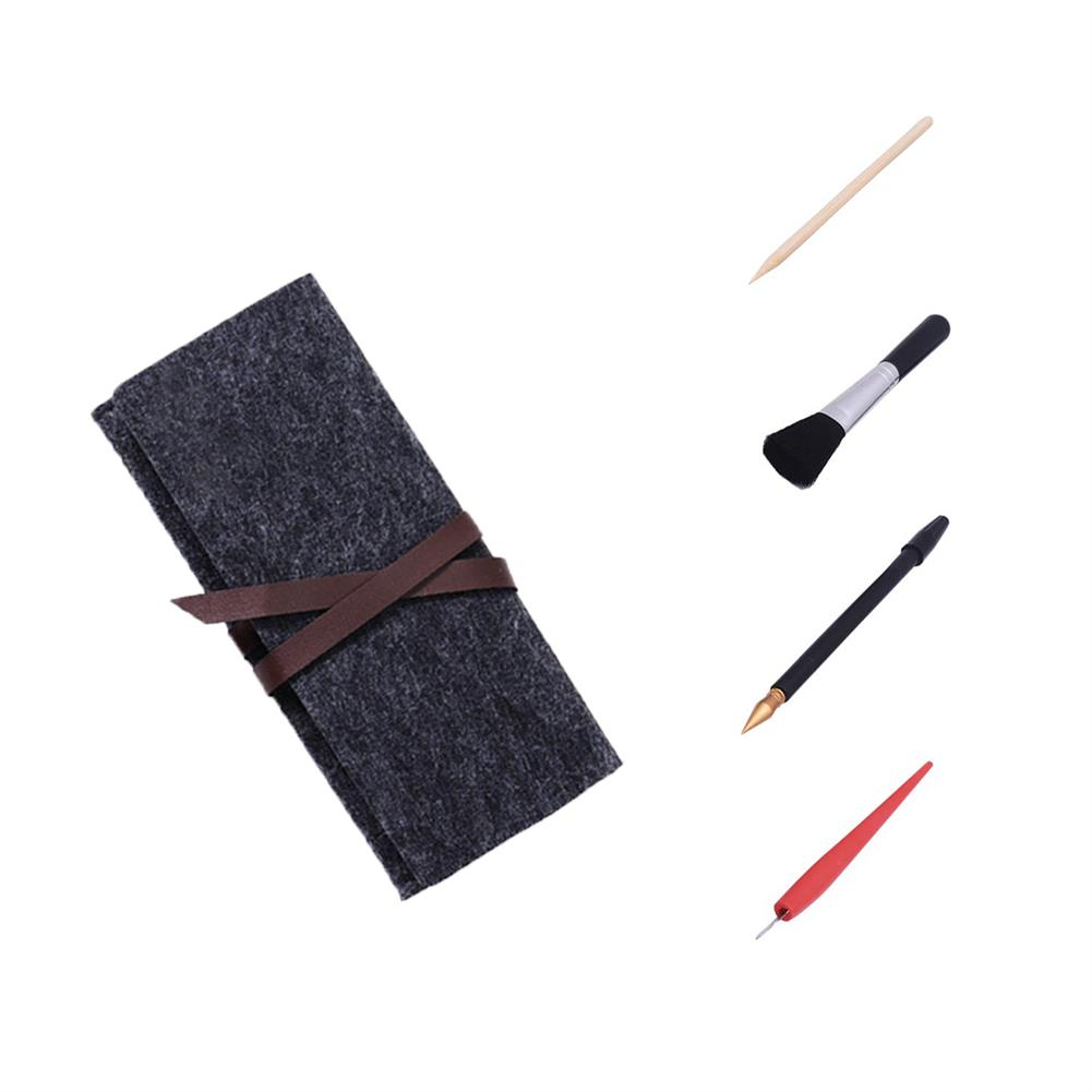 brush 5 in 1 Drawing Tools Set Scratch Pen Brush Wooden Pen Red Scraper with Storage Bag HOB1795951 1