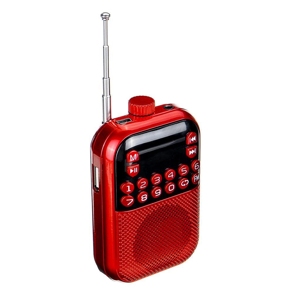 desktop-off-surface-shelves Pocket Portable Mini Radio FM Digital Radio MP3 Music Player Speaker Support TF Card Built-in Battery Creative Gifts HOB1796262 2 1
