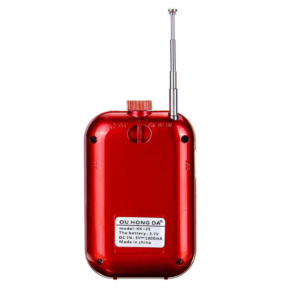 desktop-off-surface-shelves Pocket Portable Mini Radio FM Digital Radio MP3 Music Player Speaker Support TF Card Built-in Battery Creative Gifts HOB1796262 3 1
